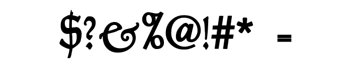 Goudy Thirty Font OTHER CHARS