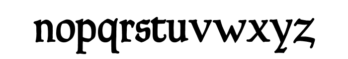 Goudy Thirty Font LOWERCASE