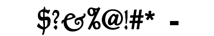 GoudyThirty-DemiBold Font OTHER CHARS