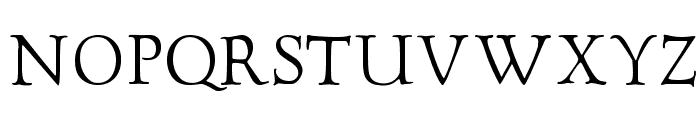 GoudyTwenty Font UPPERCASE