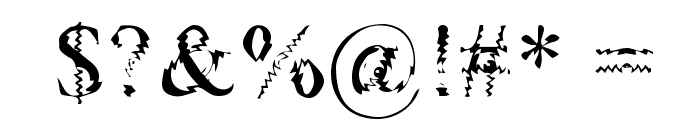 Gouge Font OTHER CHARS