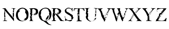 Gouge Font UPPERCASE