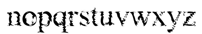 Gouge Font LOWERCASE