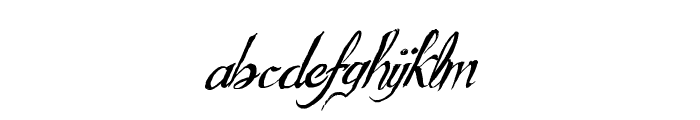 GouldenTreatise Font LOWERCASE