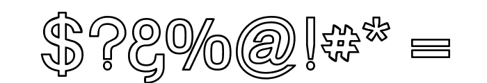 Goulong Bold Outline Font OTHER CHARS