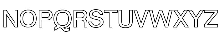 Goulong Bold Outline Font UPPERCASE