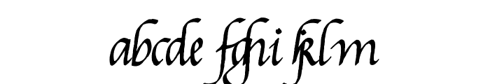 Gourdie Cursive Deux Font LOWERCASE