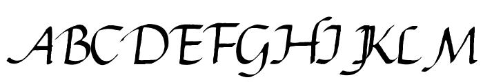 Gourdie Cursive Font UPPERCASE