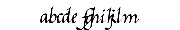 Gourdie Cursive Font LOWERCASE