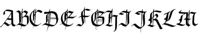 Gourdie Gothic Font UPPERCASE