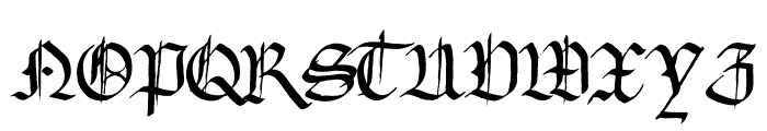 Gourdie Gothic Font LOWERCASE