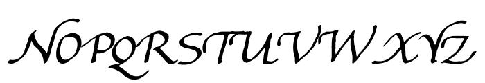 Gourdie Handwriting Font UPPERCASE
