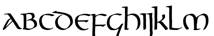 Gourdie Uncial Font LOWERCASE