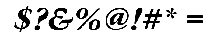 Gourmand  Bold Italic Font OTHER CHARS