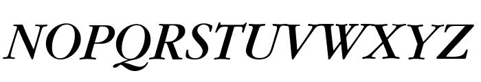 Gourmand  Italic Font UPPERCASE
