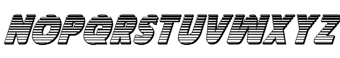 Governor Chrome Italic Font UPPERCASE