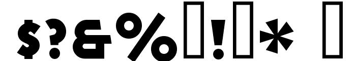 Goya Heavy Font OTHER CHARS