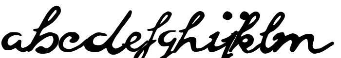 goodvibes regular Font LOWERCASE