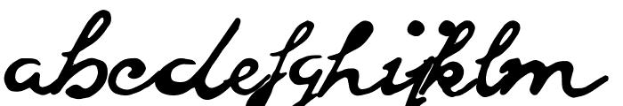 goodvibesregular Font LOWERCASE