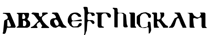 gothic-1 Font LOWERCASE