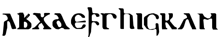gothic Font LOWERCASE