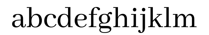 Abhaya Libre regular Font LOWERCASE
