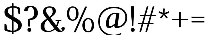 Adamina regular Font OTHER CHARS