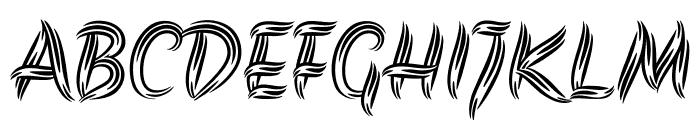 Akronim regular Font UPPERCASE