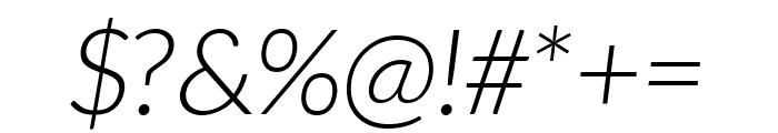 Aleo 300italic Font OTHER CHARS