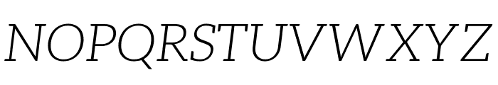 Aleo 300italic Font UPPERCASE