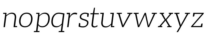 Aleo 300italic Font LOWERCASE