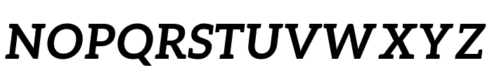 Aleo 700italic Font UPPERCASE