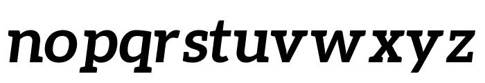 Aleo 700italic Font LOWERCASE
