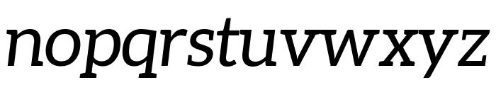 Aleo italic Font LOWERCASE