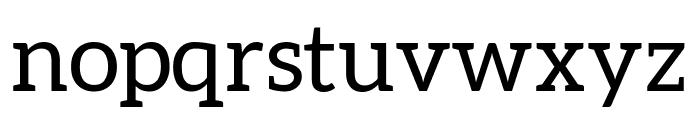 Aleo regular Font LOWERCASE