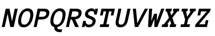 Anonymous Pro 700italic Font UPPERCASE