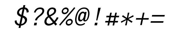 Anonymous Pro italic Font OTHER CHARS
