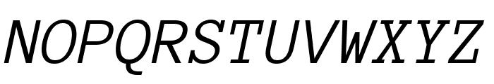 Anonymous Pro italic Font UPPERCASE