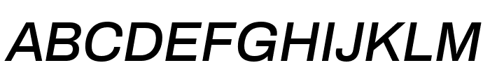 Archivo 500italic Font UPPERCASE