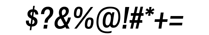 Archivo Narrow 500italic Font OTHER CHARS