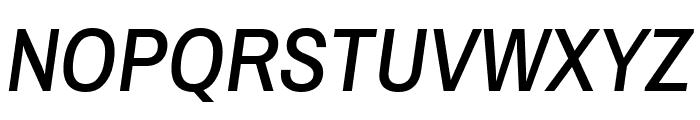 Archivo Narrow 500italic Font UPPERCASE