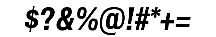 Archivo Narrow 700italic Font OTHER CHARS