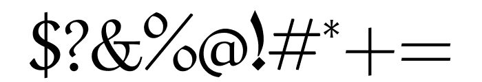 Aref Ruqaa regular Font OTHER CHARS