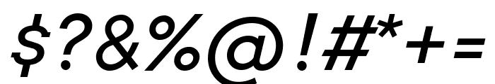 Arvo italic Font OTHER CHARS