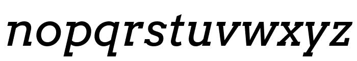 Arvo italic Font LOWERCASE