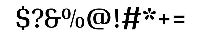 Arya regular Font OTHER CHARS