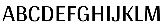 Arya regular Font UPPERCASE