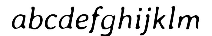 Averia Libre 300italic Font LOWERCASE