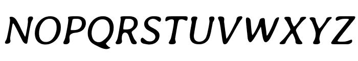 Averia Libre italic Font UPPERCASE