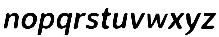 Averia Sans Libre 700italic Font LOWERCASE